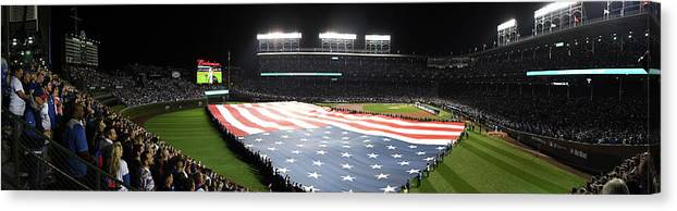 Playoffs Canvas Print featuring the photograph Mlb Oct 28 World Series - Game 3 - by Icon Sportswire