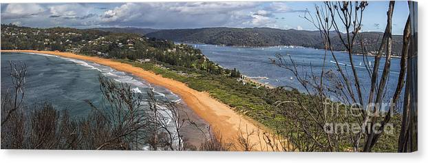 Barrenjoey Canvas Print featuring the photograph Barrenjoey panorama by Sheila Smart Fine Art Photography