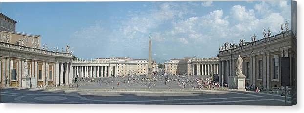Digital Art Canvas Print featuring the digital art St. Peter's Square by Harold Shull