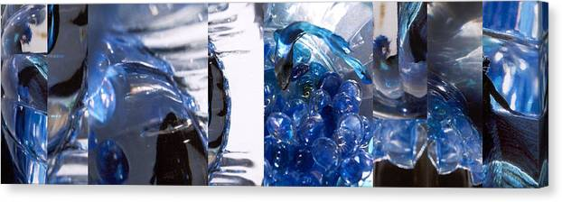 Abstract Canvas Print featuring the photograph Time Line in Blue by Steve Karol
