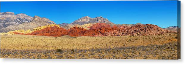 Las Vegas Canvas Print featuring the photograph Red Rock Canyon by Richard Henne