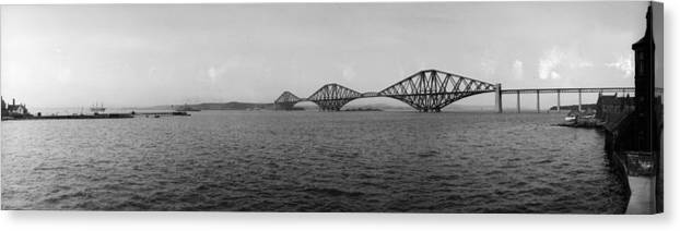 Lothian Canvas Print featuring the photograph Forth Bridge by Alfred Hind Robinson