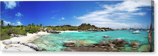 Scenics Canvas Print featuring the photograph Panorama Of Spring Bay And The Baths by Cdwheatley