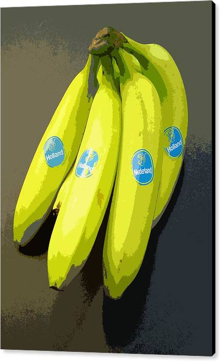 Fruit Canvas Print featuring the painting Banana Republic by Marcello