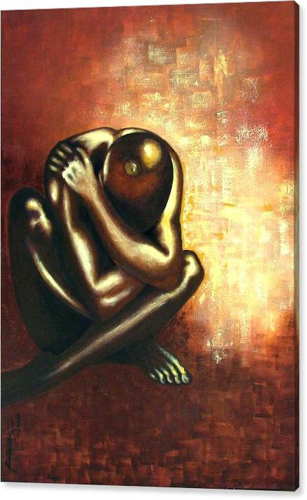 Figurative Canvas Print featuring the painting Angst Of Existence by Padmakar Kappagantula