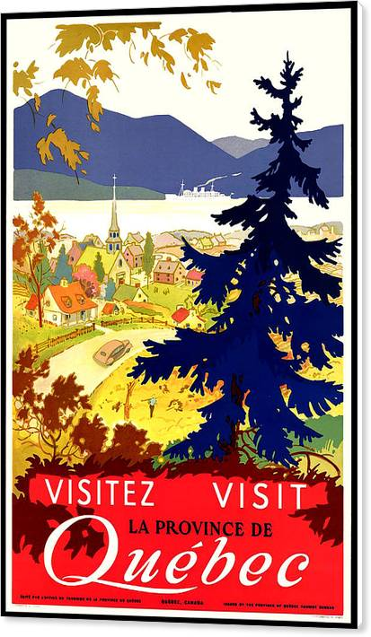 Quebec, Canada, travel poster by Long Shot