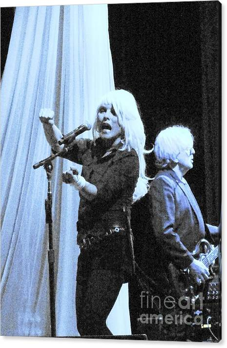 Debbie Harry Canvas Print featuring the photograph Blondie Live 2010 by David Peters