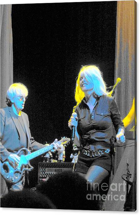 Debbie Harry Canvas Print featuring the photograph Debbie 'n Chris by David Peters
