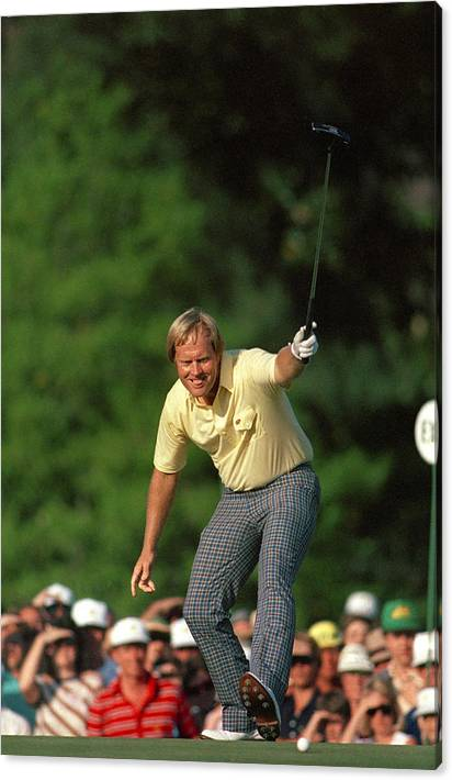 Masters Winning Put 1986 Jack  Nicklaus 1986 by Peter Nowell