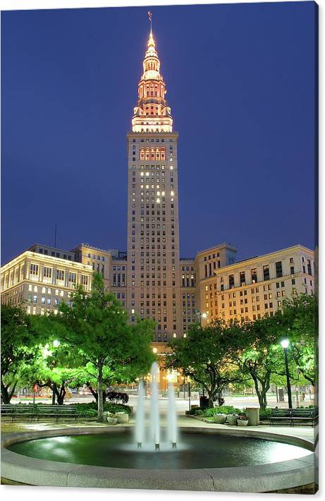 Limited Time Promotion: Terminal Tower Stretched Canvas Print