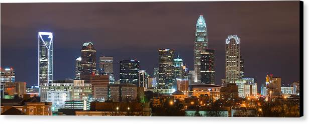 City Canvas Print featuring the photograph Charlotte Skyline 2012 by Brian Young