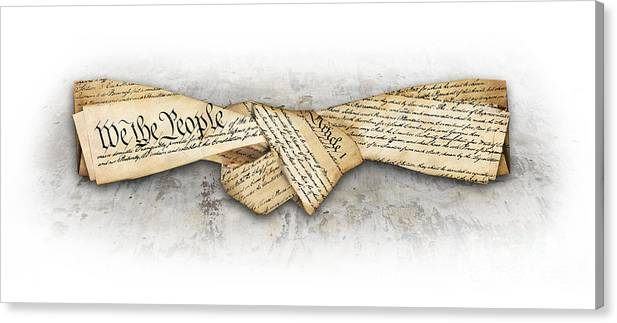 Constitution Canvas Print featuring the digital art The Constitution by Chris Van Es