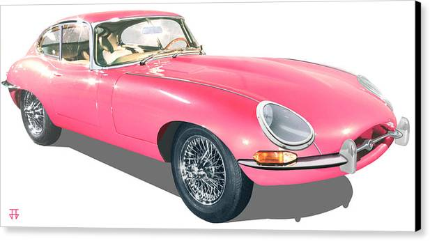 Car Posters Canvas Print featuring the digital art Beauty In Pink by Jose Gomis