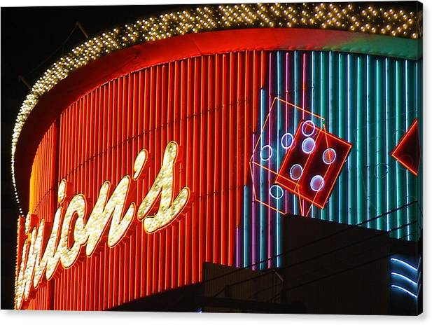 Binion's Canvas Print featuring the photograph Binions Casino by Bill Buth