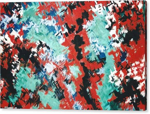 Abstract Art Canvas Print featuring the painting Sensations by Terry Forrest