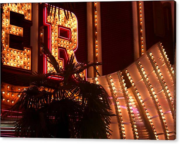 Fremont Street Canvas Print featuring the photograph Fremont Street Scene Number Five by Bill Buth