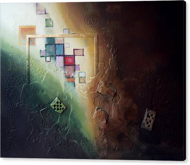 Canvas Print featuring the painting Reveal by Farhan Abouassali