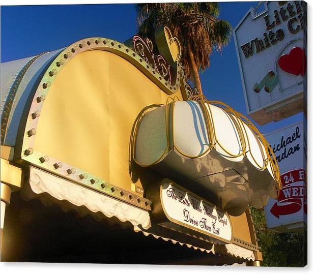 Las Vegas Canvas Print featuring the photograph The Little White Wedding Chapel by Bill Buth