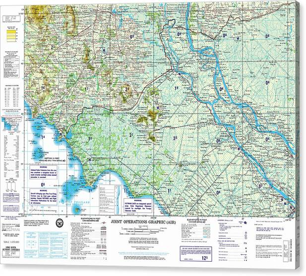Nc 48 06 Long Xuyen Joint Operations Graphic Air Topographic Map