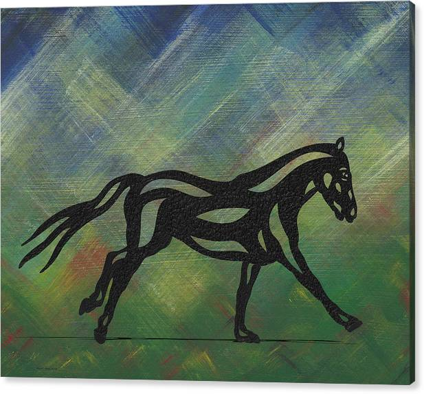 Abstract Horse Art Canvas