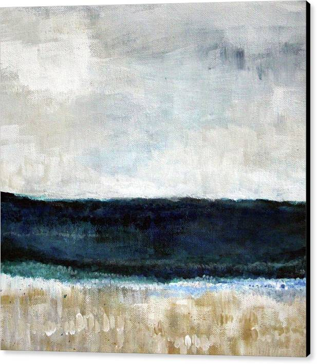 Beach- abstract painting by Linda Woods