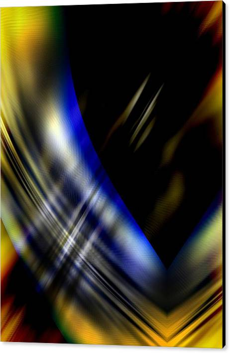 Abstractions Abstract Modern Contemporary Alien Spiritual Love Death Otherworlds Timetravel Canvas Print featuring the digital art Influx by Salvatore Sgroi