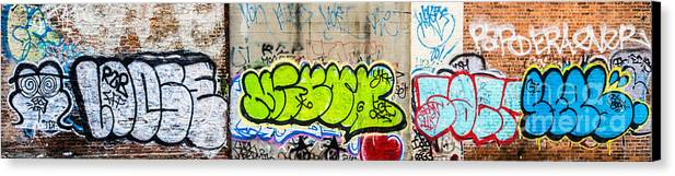 Artistic Canvas Print featuring the photograph Graffiti Art Nyc 3 by Anakin13