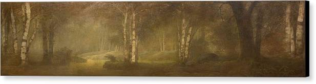 George Mann Niedecken(american Canvas Print featuring the painting Trees In The Forest by George Mann