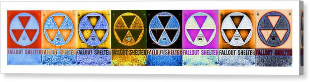 Fallout Canvas Print featuring the photograph Fallout Lineup by Stephen Stookey