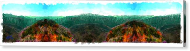 Mountain Canvas Print featuring the painting National Forest by Bruce Nutting