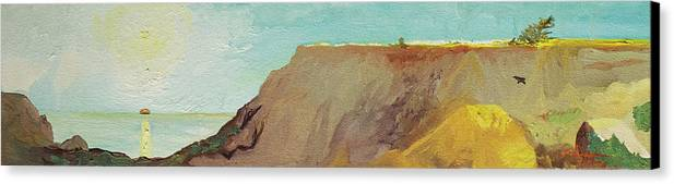 Torrey Pines Canvas Print featuring the painting A Private Spot by Joseph Demaree