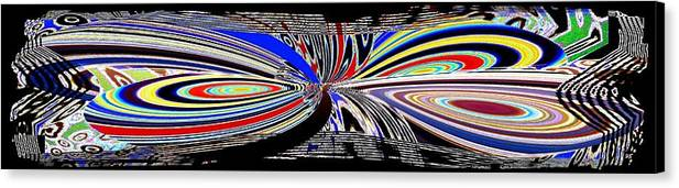 Abstract Fusion Canvas Print featuring the digital art Abstract Fusion 197 by Will Borden