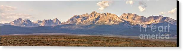 Rocky Mountains Canvas Print featuring the photograph The Sawtooths' by Robert Bales