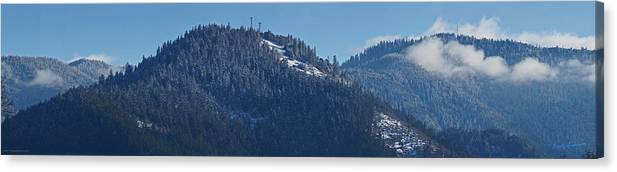 Panorama Canvas Print featuring the photograph Winter And Mt Baldy Panorama by Mick Anderson
