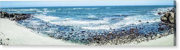 Landscape Canvas Print featuring the photograph Usa California Pacific Ocean Coast Shoreline by Alex Grichenko