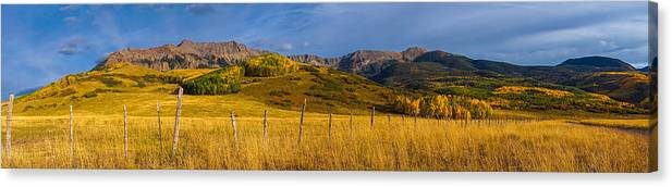 Panoramic Canvas Print featuring the photograph Last Dollar Pano by David Ross