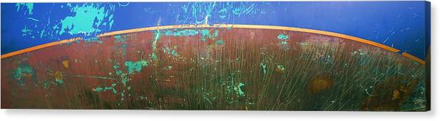 Blue Canvas Print featuring the photograph Waterline by Ed Zirkle