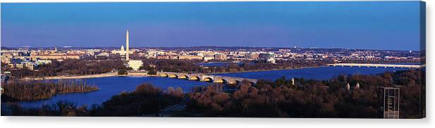 Photography Canvas Print featuring the photograph Arlington, Va - Wash D.c. - Panoramic by Panoramic Images