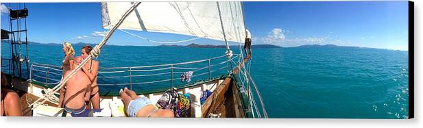 Sail Canvas Print featuring the photograph Sunbaking by Antoinette Andersen