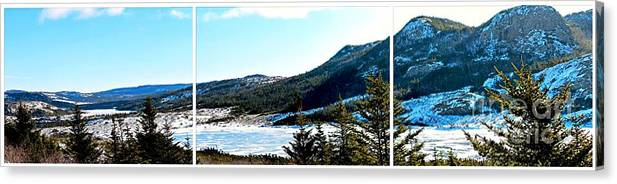Down In The Valley Triptych Canvas Print featuring the photograph Down In The Valley Triptych by Barbara Griffin