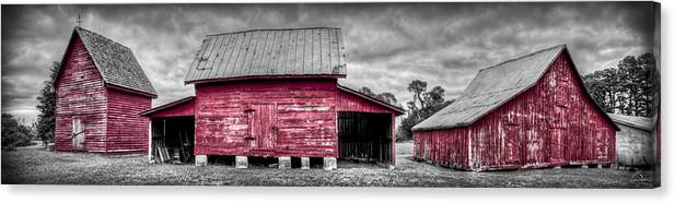 Windsor Castle Canvas Print featuring the photograph Red Barns At Windsor Castle by Williams-Cairns Photography LLC