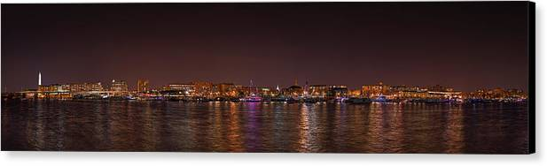 Metro Canvas Print featuring the photograph Dc Waterfront by Metro DC Photography