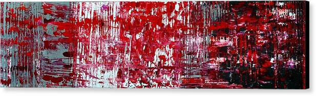Red Paintings Canvas Print featuring the painting Red Grey White And Black by Martina Niederhauser