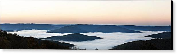 Sunrise Canvas Print featuring the photograph 0710-0037 Sunrise At Firetower Road by Randy Forrester