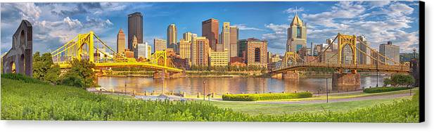 Pittsburgh Canvas Print featuring the photograph Idyllic Afternoon by Jennifer Grover