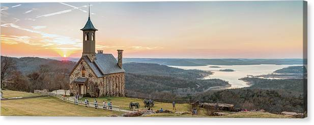 Branson Missouri Top of the Rock Sunset Panorama by Gregory Ballos
