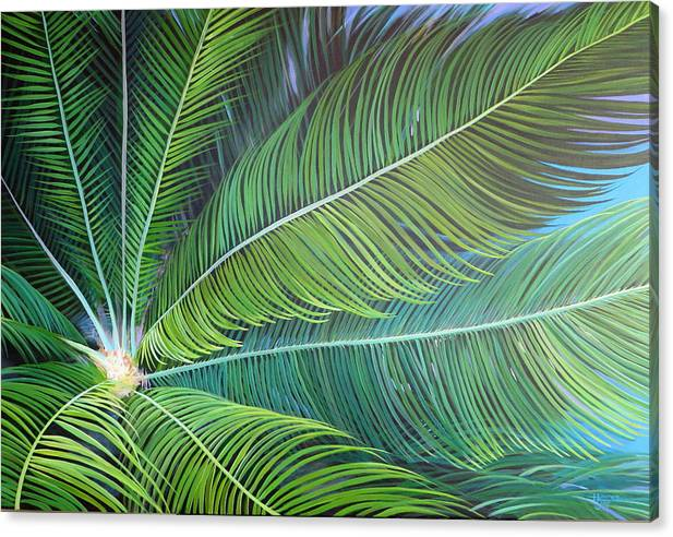 Sago Canvas Print featuring the painting Half a World Away by Hunter Jay