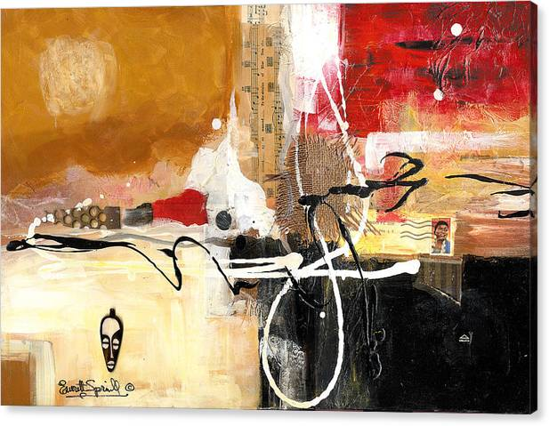 Everett Spruill Canvas Print featuring the painting Cultural Abstractions - Hattie McDaniels by Everett Spruill