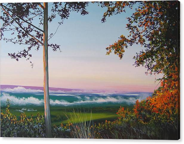 Landscape Canvas Print featuring the painting September Sky by Hunter Jay