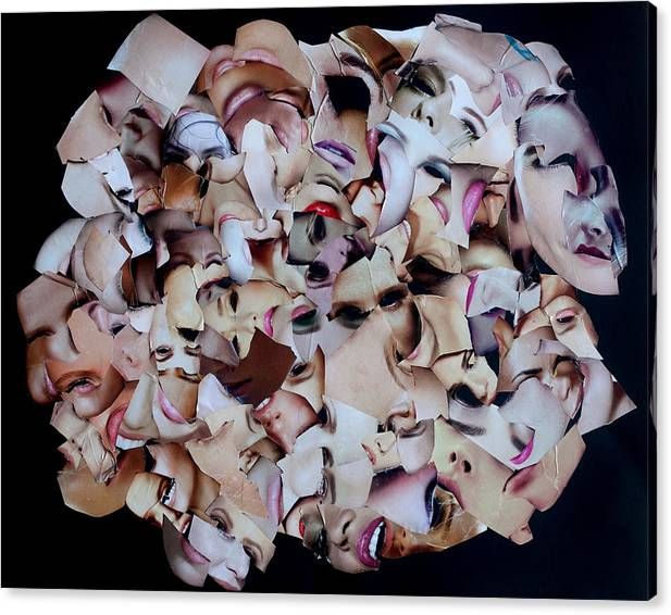 Collage Canvas Print featuring the mixed media Velcro Bismol 3 by Arvo Zylo